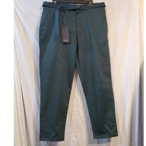 ZaraMan loose fit green casual pants